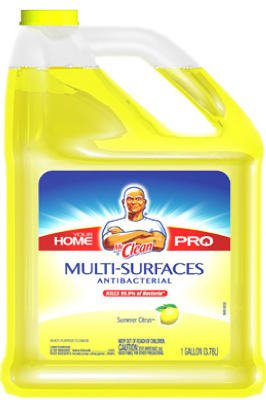 Mr. Clean Multi-Surfaces Summer Citrus Antibacterial Liquid Cleaner, 128 Fluid Ounce Bottle