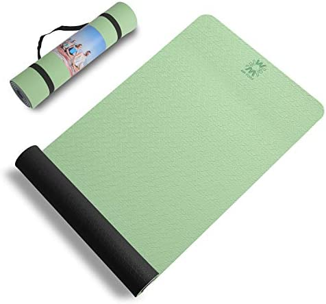 wwww Yoga Mat Extra Thick 1/4 & 1/3 Inch Non Slip Yoga Mats for Women & Men,Eco Friendly TPE Fitness Exercise Mat with Carrying Strap for Yoga,Pilates Gift for Christmas Birthday
