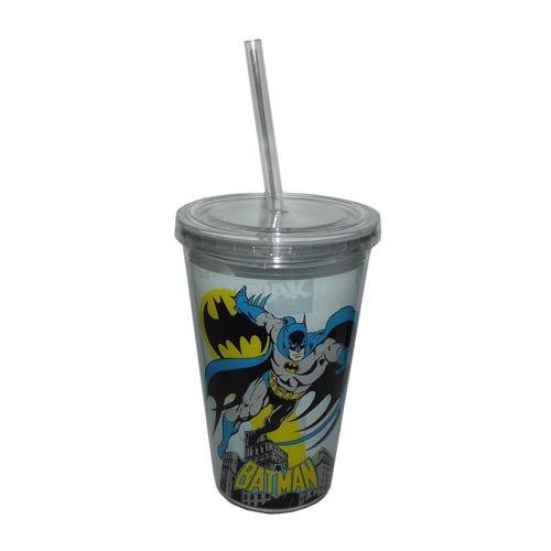 Batman Acrylic Tumbler Cup with Straw