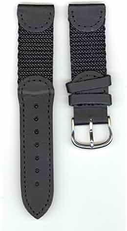 Original Swiss Army Brand 19mm-Nylon/Leather-Black