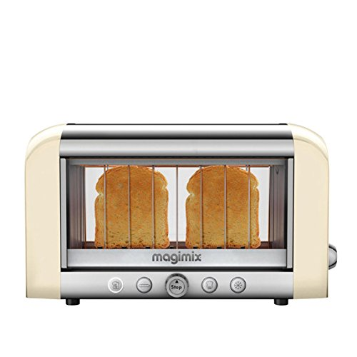 Magimix 2 Slice Stainless Steel See Through Toaster With Cool Touch Exterior And Auto Shut Off