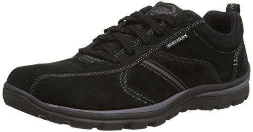 Skechers SuperiorAbrasive, Sneakers da Uomo Nero (Black (Black Blk))