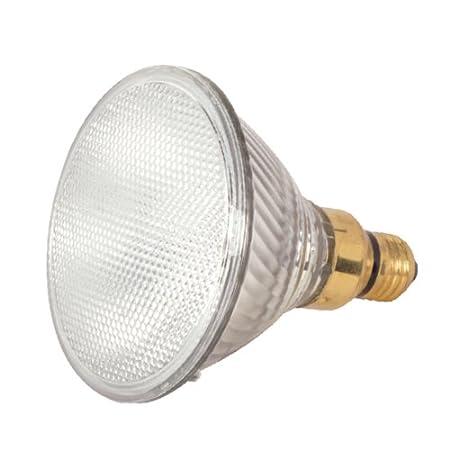 Satco Products S2267 39-Watt (50-Watt) 530 Lumens PAR20 Halogen Narrow Flood 34-Degrees Clear Light Bulb, 2-Pack