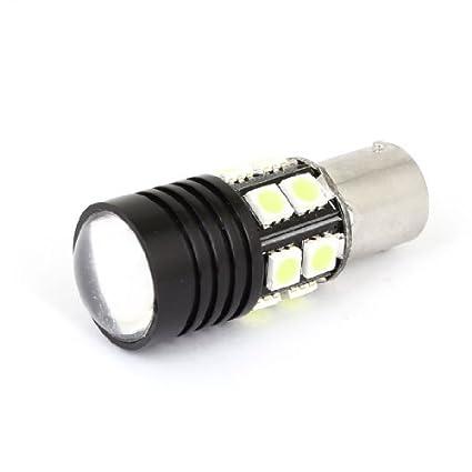 Amazon.com: eDealMax BAY15S 1156 12 Blanco 5050 SMD LED ETT R3 lente auto del coche de la lámpara de señal de vuelta: Automotive