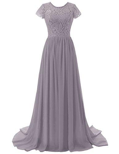 timeless design c2190 540c3 Chiffon kleid grau lang – Stylische Kleider für jeden tag