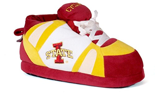 (ISU01-3 - Iowa State Cyclones - Large - Happy Feet Men's and Womens NCAA Slippers)