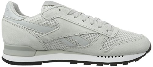 Reebok Classic Leather Clip Tech, Zapatillas para Hombre Gris (Skull Grey/White/Black)