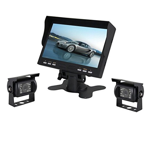 Esky 7-Inch TFT LCD Color Monitor Car Backup Rear View Camer