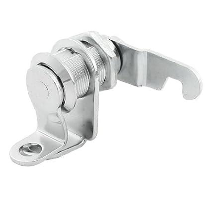 Tono de plata 17.4mm Dia cilindros en línea plana puerta del armario cerradura de la