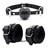 Best Gag Balls - Open Breathable Mouth Ball and Handcuffs Wrist Cuffs Review