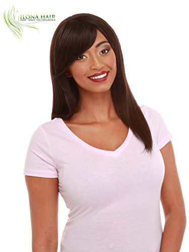 Price comparison product image Black Long Wig With Bang For Black Woman SUMA 100% Heat Resistant Straight Hair Color 4 peluca larga