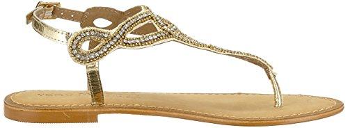 Vero Femme Moda Cheville Gold Bride Leather Or Vmliv Pale Sandales arfqAwaF