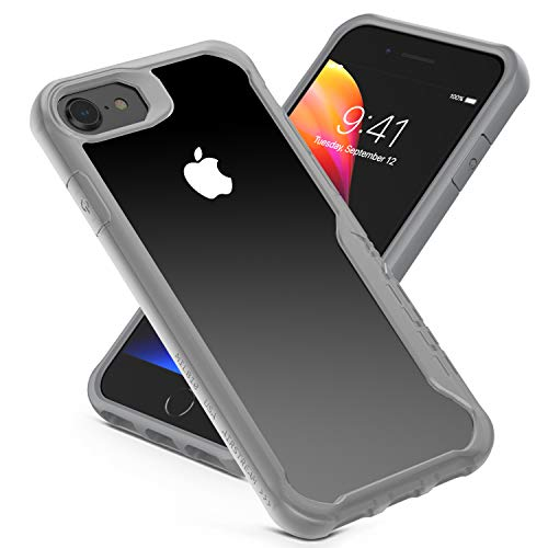 iPhone 6 / 6S / 7/8 Case,Shock Absorption Case Heavy Duty Protection Cover Scratchproof Case, Reinforced Rubber Soft TPU Bumper Clear Hard PC Shockproof Back Cover for iPhone 4.7