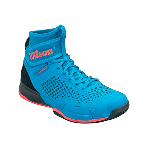 Wilson Wrs322550e125, Chaussures de Tennis Homme, Bleu (Methyl Blue / Black / Fiery Coral), 48 EU