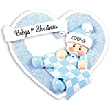 Personalized Heartily Yours Baby's First Christmas Ornament (Boy)