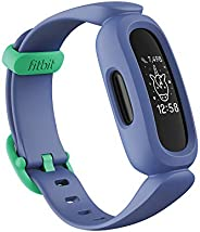 Fitbit Ace 3 Activity Tracker for Kids 6+, Blue/Astro Green, One Size