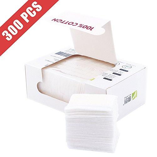 Healon Cotton Squares 100% Natural Cleansing Pads Soft Cotton Wipes 300pcs