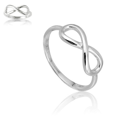 Sterling Silver Infinity Figure 8 Ring (Size 7) Available in sizes 4 - 4.5 - 5 - 5.5 - 6 - 6.5 - 7 - 7.5 - 8 - 8.5 - And Tiffany Co Infinity