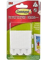 Command MMM172014PK Självhäftande Remsor för Upphängning av Bilder, Vit, 4 st