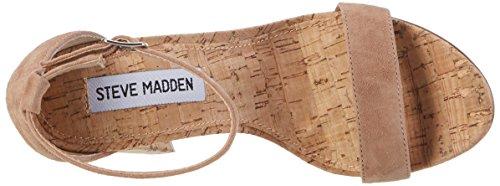 Steve Madden Carson-c Sandal, Scarpe Peep-Toe Donna, Marrone (Camel), 36 EU