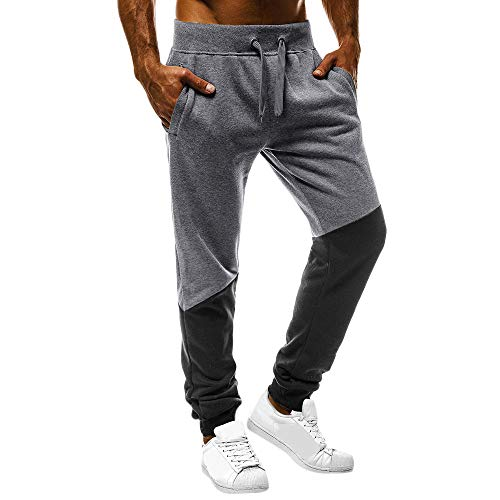 Uomo Con Abbigliamento Scuro Pantaloni Da Estiva Completi Uomo Casual Palestra Fit Flessibili Allenamento Grigio Moda Cuciture Slim Zarupeng Fitness sportivi pantaloni Sportivi P8x01wP