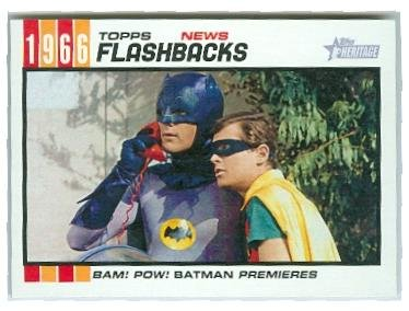 Batman trading card (Adam West Burt Ward) 2015 Topps Heritage #NF1 Flashbacks Autograph Warehouse