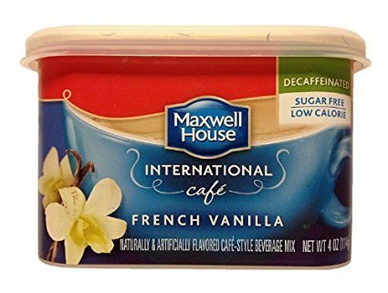 Maxwell House International Coffee Decaf Sugar Free French Vanilla Cafe, 4-Ounce Cans (Pack of 4), Garden, Lawn, Maintenance