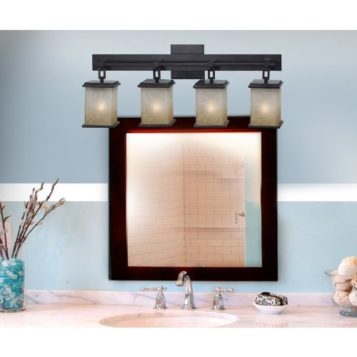 Vanity Lights Cyber Monday : Kenroy Home 3375 Plateau 4-Light Vanity, Oil Rubbed Bronze Furniture Cabinets Storage Vanities ...