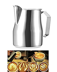 Frothing Pitcher, Windspeed Stainless Steel Milk Pitcher Latte Art Jug Gift from Windspeed