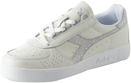 Diadora B.Elite L Wn, Zapatillas de Gimnasia Para Mujer Blanco (Bianco Argento C0516)