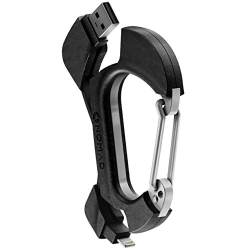 Nomad Carabiner Lighting Charger Clip | Carbon