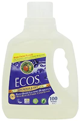 Earth Friendly Products, ECOS Magnolia & Lily Liquid Laundry Detergent, PL9888/04, 100oz Retail Bottle by Earth Friendly