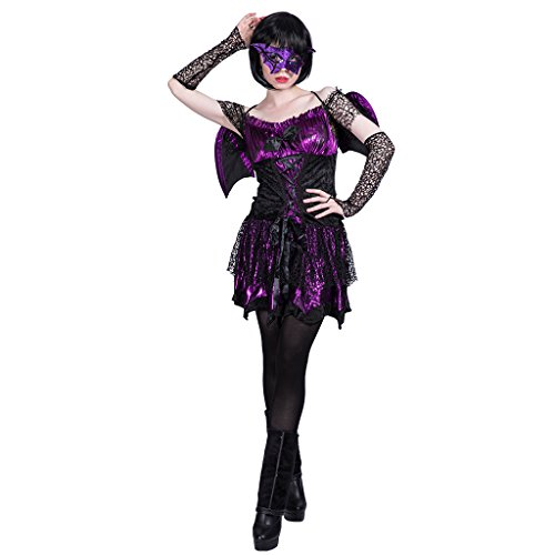 Ladies Halloween Costumes Pictures (EraSpooky Women Vampire Bat Halloween Costume(As Picture, Medium))