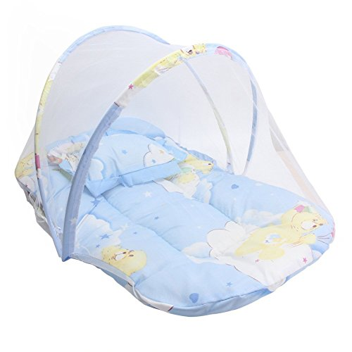 ACTLATI Foldable Baby Mosquito Net Portable Anti-Bug Crib Cradle Bed with Mattress and Pillow for Home & Travel by ACTLATI