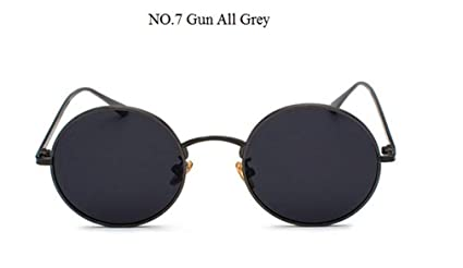 a966122919 Image not available for. Color  Metal Round Korea Cool Vintage Steampunk  Sunglasses Women Red Yellow Lens Color Punk Sun Glasses Men