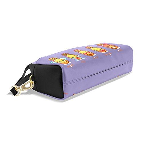 Bleistifttasche / Federmäppchen, langlebig, Ananas-Design, auch toll als Make-up-Tasche, großes Fassungsvermögen color9 color4
