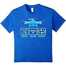 Build Crash Repeat Drone Pilot RC Tricopter Aircraft T-Shirt