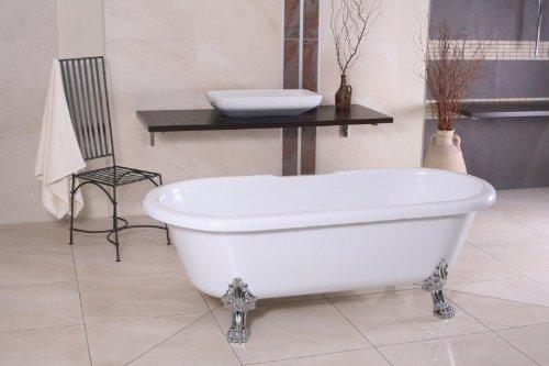 Baño de lujo Nouveau Milano Negro / Plata - Independiente barroco bañera