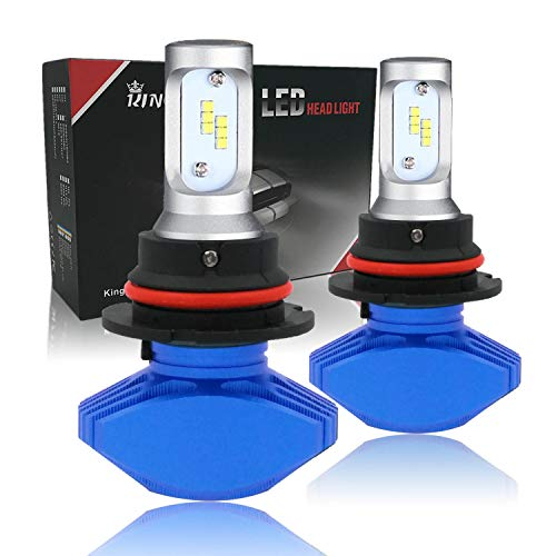 King Eagle 9007/HB5 LED Headlight Bulb All-in-one Conversion Kit, Halogen Headlamp Replacement, 2 Pack