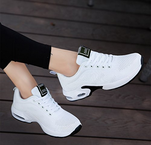 Blanco elegir 42 Sneakers 2 modelo De Rosado 35 Delgado Air Fitness Blanco Cordones Rojo Tamano Zapatillas 1 Running Negro Púrpura 4cm Deportivas Mujer qOZfAO0Hn