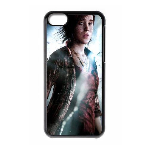 C2I51 delà de deux âmes F6F4QG coque iPhone 5c cellulaire cas de téléphone couvercle coque de RT4KQI9HH noir