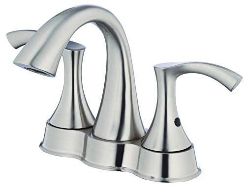 (Danze D301122BN Antioch Two Handle Centerset Lavatory Faucet, Brushed Nickel)