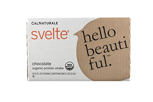 Svelte Organic Protein Shake, Chocolate, 11 Ounce (Pack of 8)