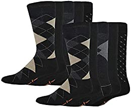 Men's Classics Dress Argyle Crew Socks 10 Pair