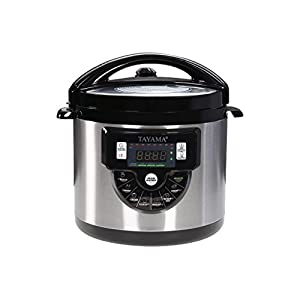 Tayama TMC-60XL 6 Quart 8 in 1 Multi Function Pressure Cooker, 6 Qt, Black 9
