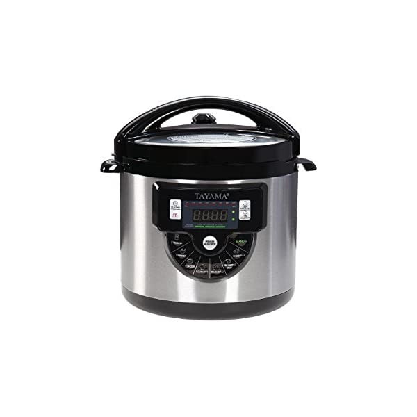 Tayama TMC-60XL 6 Quart 8 in 1 Multi Function Pressure Cooker, 6 Qt, Black 1