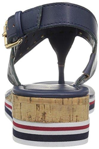 Navy Damen Hilfiger Sandal Peak Wedge Tommy q4Xxavq