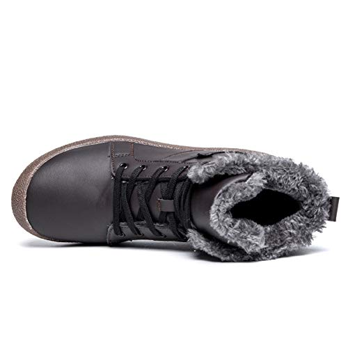 Fur Lined Warm Fur Casual Winter brown Boots Snow Shoes Women's Waterproof qzpAnx