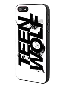 Teen Wolf Creatures Of The Night Logo Black White iPhone 5 Case Hardplastic Frame Black Fit For iPhone 5 and iPhone 5s
