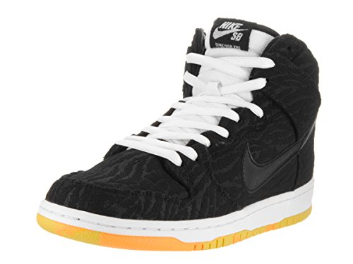 Nike Dunk High Pro, Sandali Uomo Black, Black-white-laser Orange